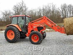 1 Owner Kubota M108x Cab+loader+4x4 With 748 Hours! Very Nice Condition