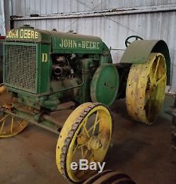 1926 JOHN DEERE NICKEL D Antique Classic Tractor Collectible Vintage
