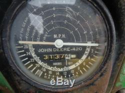 1958 John Deere 420W Tractor, Slant Steering, Gas Engine, Slant Steering