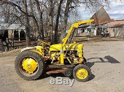 1960 International Cub Lo Boy Tractor with 2 loader buckets and belly mower