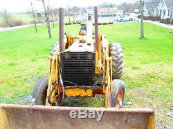 1967 Case 580 CK tractor loader Construction King used compact utility bucket