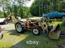 1974 Satoh Mitsubishi S650g 25 H. P 4 Cly. Gas Tractor Backhoe Loader & Forks Vgc