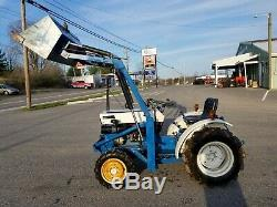 1978 Satoh S-370 tractor loader 4x4 15 hp diesel gear used compact Mitsubishi