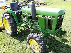 1981 John Deere 750 compact tractor 20 hp Yanmar Diesel 4x4 PTO used 932 hours