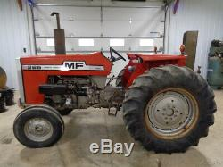 1981 Massey Ferguson 265 Tractor, 2WD, 12 Speed, 1 Remote, 2,014 Hours, NICE