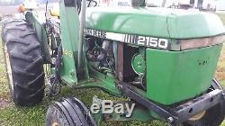 1984 John Deere 2150 tractor JD 146 loader gear 50 hp diesel used utility farm