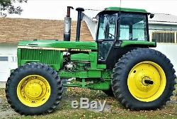 1984 John Deere 4650 Power Shift Cab Tractor 4x4 4WD ie 4450 4850 6030 4250 4050