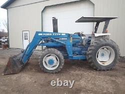 1988 FORD 5610 ll TRACTOR With LOADER, CANOPY, 4X4, 3 PT, 540 PTO, 3 REMOTE, 72 HP