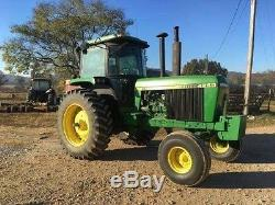 1988 John Deere 4250 MFWD Tractor Power Shift 3 Point Hitch Cab Heat A/C Stereo