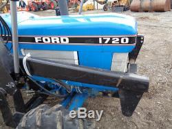 1988 New Holland 1720 Tractor, 4WD, Bush Hog 2245 Loader, 28HP Diesel, 836 Hours
