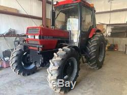 1990 Case/ Int 685 4x4 Farm Tractor Heated Cab 73 HP 3069 Hrs Forks /bucket