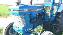 1990 Ford 5610 Tractor Diesel Hydraulic Farm Ag Machinery Cab AC Heat 72hp 2wd