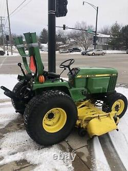 1993 JOHN DEERE 955 Utility Tractor 72 Inch Mower MFWD 4WD Hydro Low Hours