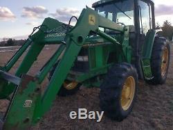 1993 John Deere 6400 Tractor, 4WD, Loader