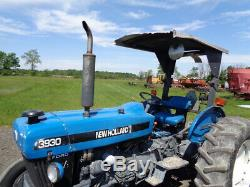 1996 New Holland 3930 Tractor, 2WD, OROPS with Sunshade, 1 Remote, 1,328 Hours