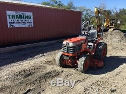1997 Kubota B1700 Diesel Compact Tractor with Belly Mower