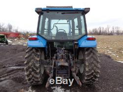 1998 New Holland 4835 Tractor, Cab/Heat/Air, Bush Hog 2426QT Loader, 2,830 Hrs