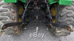 2000 JOHN DEERE 4100 4X4 TRACTOR With LOADER & BELLY MOWER HYDRO 20HP DIESEL