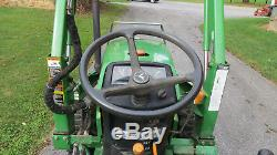2000 JOHN DEERE 790 4X4 COMPACT UTILITY TRACTOR With LOADER 30HP DIESEL 833 HOURS