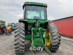 2001 John Deere 7410 4x4 120Hp Power Quad Farm Tractor with Cab with 7500Hrs