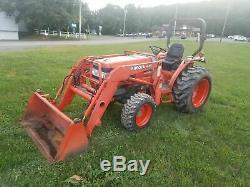 2001 Kubota L3010 Compact Tractor / Loader 4WD Work Ready
