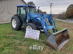 2001 New Holland TN75D Tractor 4x4 Cab Loader