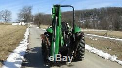 2002 John Deere 4600 4x4 tractor with loader and backhoe. 43 HP
