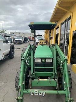 2002 John Deere 4600 Diesel Tractor withJD Loader & JD Backhoe 4x4 Low 520 Hours