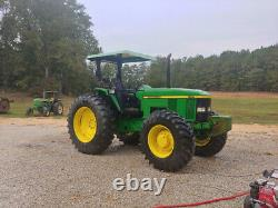 2002 John Deere 7210 4x4 110Hp Farm Tractor with Front Weights Canopy Only 6000Hrs