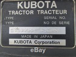 2003 Kubota B7800 Tractor, Loader, 4x4, Cab, Hydro Drive, 30 HP Diesel, 1030 Hrs