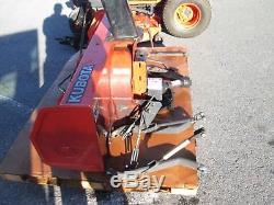 2003 Kubota BX2200 Compact Tractor Belly Mower Kubota Diesel Front 54Snowblower