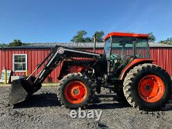 2003 Kubota M9000 4x4 90Hp Farm Tractor with Cab & Loader Only 2500 Hours
