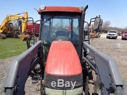 2004 Case IH JX75 Tractor, C/H/A, Quickie Q30 Loader, 4WD, NEEDS engine repair