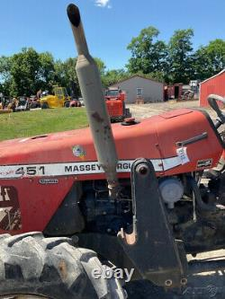 2004 Massey Ferguson 451 4x4 50hp Utility Tractor with Loader NEEDS REPAIRS