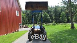 2004 NEW HOLLAND TN65 4X4 UTILITY FARM TRACTOR With LOADER 65HP LEFT HAND REVERSER