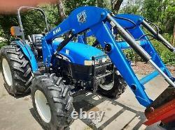 2004 New Holland TN65 4X4 Tractor/HD Loader-Universal Quick Tack Adapter 65HP