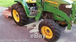 2005 JOHN DEERE 4520 4X4 COMPACT TRACTOR With LOADER 53HP DIESEL HYDRO 1100 HRS