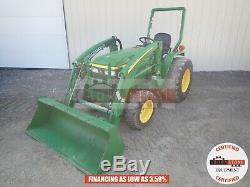 2005 John Deere 790 Compact Loader Tractor 2 Post Rops 4x4 3pt 160 Hours 30 HP