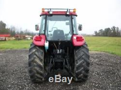 2006 Case IH JX85 tractor with Woods loader, Cab/Heat/Air, 2 remotes, 1,842 hours
