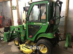 2006 John Deere 2210 Diesel Cab Tractor 4x4 Loader Mower Snowblower Snowplow