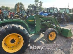2006 John Deere 4710 47hp Hydro 4x4 Compact Tractor with Loader