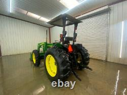 2006 John Deere 5105 Tractor Loader With Orops With Canopy, 4x4