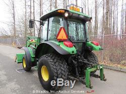 2006 John Deere 5225 Utility Tractor 542 Wheel Loader Diesel 3PT Cab A/C 4X4