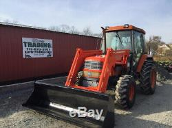 2006 Kioti DK65 4x4 Diesel Compact Tractor with Cab & Loader Only 600 Hours