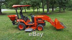 2006 Kubota BX2350 Tractor Mower Loader Spreader 4x4 PTO Tooth Bar 3-Point ROPS