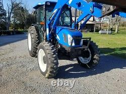 2006 New Holland TN75DA 75 HP 4WD TRACTOR AND LOADER NO EMISSIONS