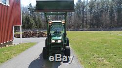 2007 JOHN DEERE 3520 4X4 COMPACT UTILITY TRACTOR With CAB & LOADER HYDRO 1200 HRS
