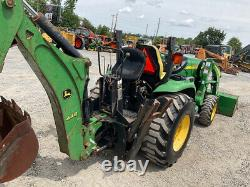 2007 John Deere 3320 4x4 Hydro 32Hp Compact Tractor Loader Backhoe Only 600Hrs
