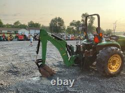 2007 John Deere 4320 4x4 48Hp Hydro Compact Tractor Loader Backhoe with 3pt Hitch