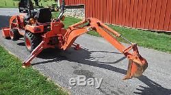 2007 Kubota Bx24 4x4 Compact Tractor Loader Backhoe Diesel Hydrostatic 595 Hours